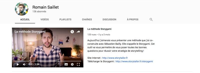 Youtube Romain Saillet