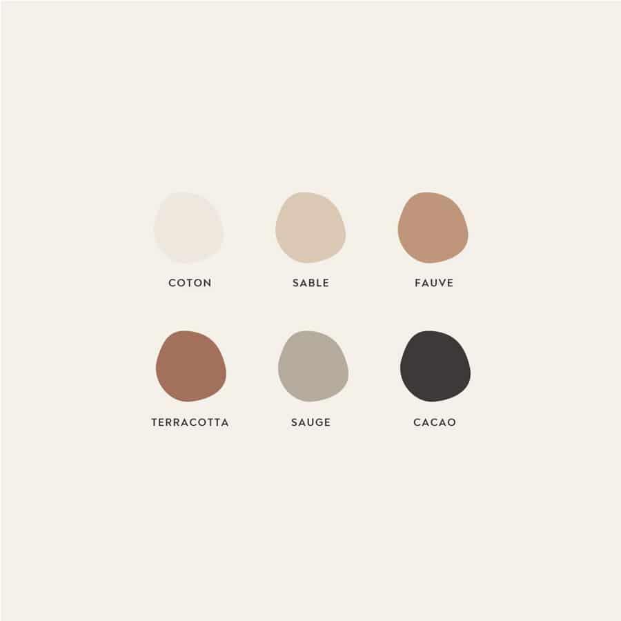 Qu'est ce que l'identité visuelle - palette de couleurs